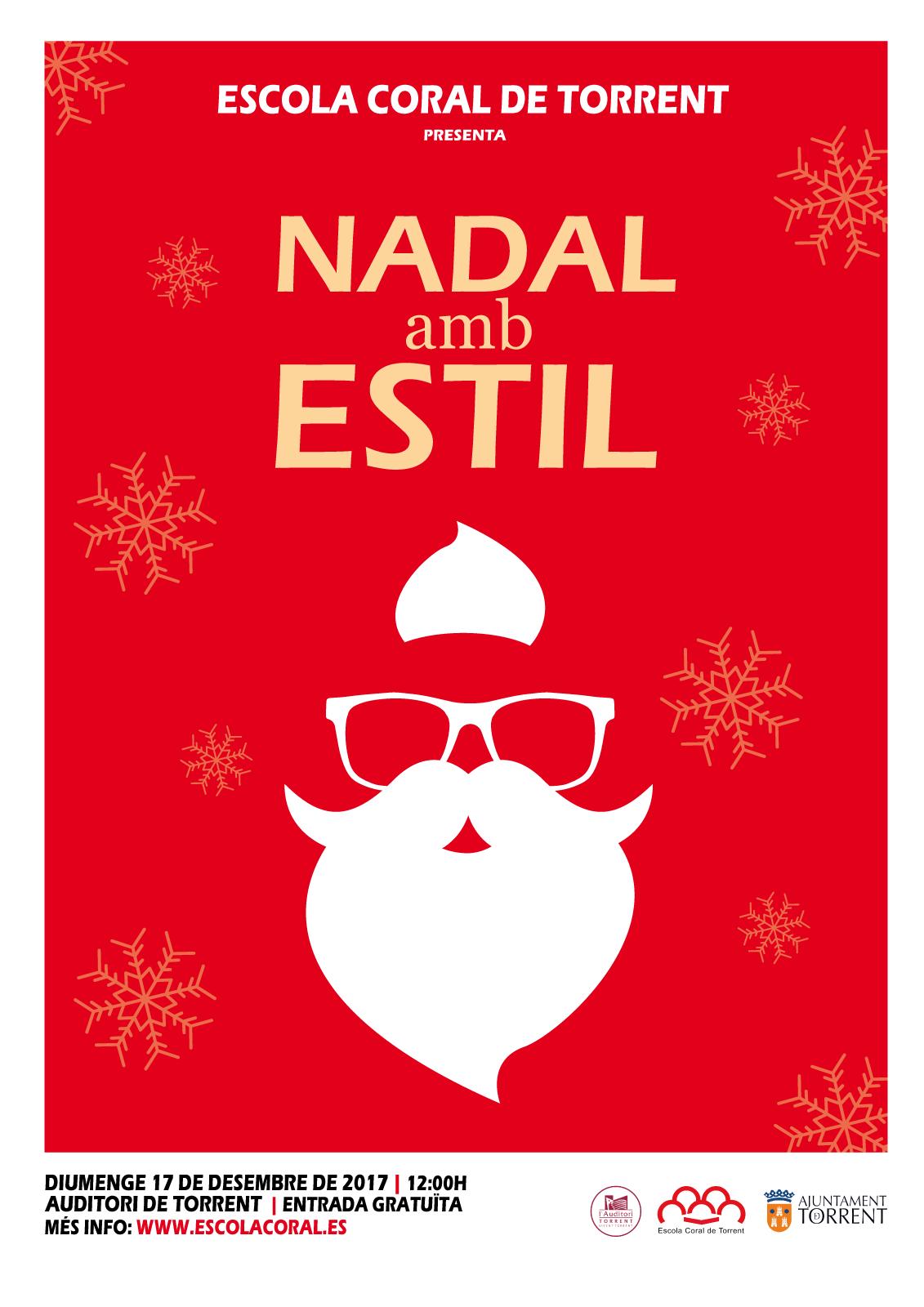 """Cartel de """"Nadal amb Estil"""""""